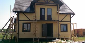 Дом по проекту Болеро в деревне Ексолово